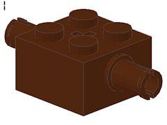 %30000 ブロック[新茶]2x2(軸穴、両側にペグ)
