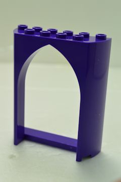 %35565 城壁[青紫]2x6x6(アーチ)