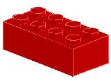%3001 ブロック[赤]2x4