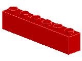 %3009 ブロック[赤]1x6