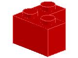 %2357 ブロック[赤]2x2(L字)