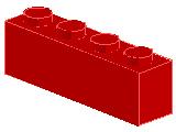 %3010 ブロック[赤]1x4