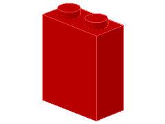 %550 ブロック[赤]1x2x2