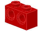 %32000 ビーム[赤]1x2(2穴)