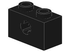 %32064b ビーム[黒]1x2(軸穴、新タイプ)