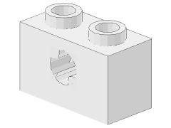 %32064b ビーム[白]1x2(軸穴、新タイプ)