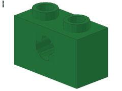 %32064b ビーム[緑]1x2(軸穴、新タイプ)