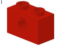 %32064b ビーム[赤]1x2(軸穴、新タイプ)