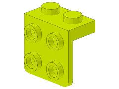 %44728 ブラケット[黄緑]1x2-2x2