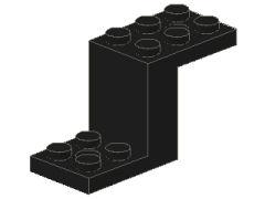 %6087 ブラケット[黒]2x5x2.3(Z型、穴開き)