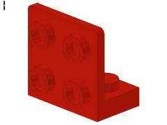%99207 ブラケット[赤]1x2-2x2(逆)