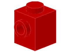 %87087 ブロック[赤]1x1(片側面にポッチ)