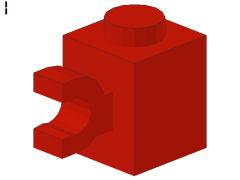 %60476 ブロック[赤]1x1(水平クリップ)