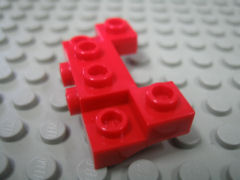 %14520 ブロック[赤]2x4-1x4(側面にポッチ2個、アーチ状)