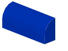 %6191 曲面ブロック[青]1x4x1.3