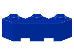 %2462 ブロック[青]3x3(片側面がギザギザ)