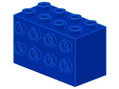 %2434 ブロック[青]2x4x2(両側面にポッチ)