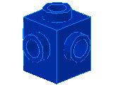 %4733 ブロック[青]1x1(4方向ポッチ)