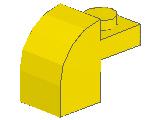 %6091 曲面ブロック[黄]1x2x1.3(プレート付)