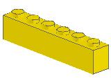 %3009 ブロック[黄]1x6