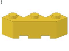 %2462 ブロック[黄]3x3(片側面がギザギザ)