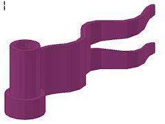 %4495 旗[紅紫]1x4