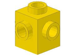 %4733 ブロック[黄]1x1(4方向ポッチ)