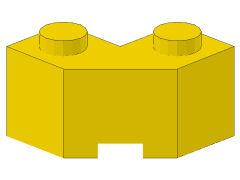 %87620 ブロック[黄]2x2(片側面がギザギザ)