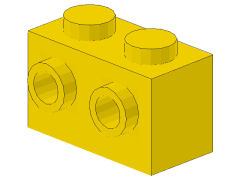 %52107 ブロック[黄]1x2(両側面にポッチ)