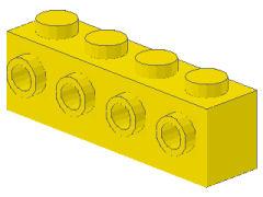%30414 ブロック[黄]1x4(片側面にポッチ4個)