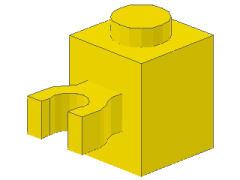 %30241 ブロック[黄]1x1(垂直クリップ)