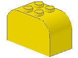 %4744 ブロック[黄]2x4x2(両側カーブ)