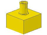 %4729 ブロック[黄]2x2(上部にペグ)