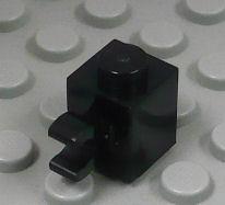 %60476 ブロック[黒]1x1(水平クリップ)