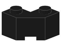 %87620 ブロック[黒]2x2(片側面がギザギザ)