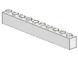 %6111 ブロック[白]1x10