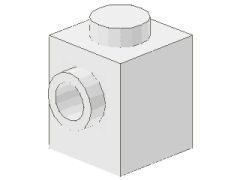 %87087 ブロック[白]1x1(片側面にポッチ)
