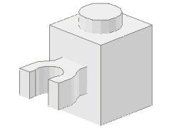 %30241 ブロック[白]1x1(垂直クリップ)