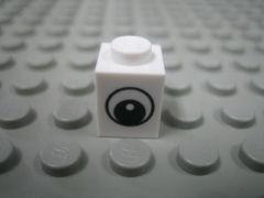 %3005 ブロック[白]1x1(目玉、新タイプ)