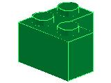 %2357 ブロック[緑]2x2(L字)