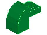 %6091 曲面ブロック[緑]1x2x1.3(プレート付)
