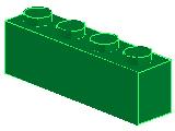 %3010 ブロック[緑]1x4
