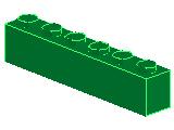 %3009 ブロック[緑]1x6