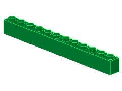 %6112 ブロック[緑]1x12