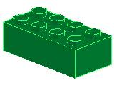 %3001 ブロック[緑]2x4