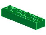 %3007 ブロック[緑]2x8