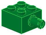 %6232 ブロック[緑]2x2(横にペグ)