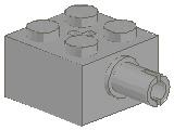%6232 ブロック[旧灰]2x2(軸穴、横にペグ)