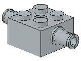 %30000 ブロック[新灰]2x2(軸穴、両側にペグ)