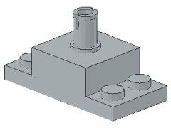 %30592 ブロック[新灰]2x2(上部にペグ、プレート付)